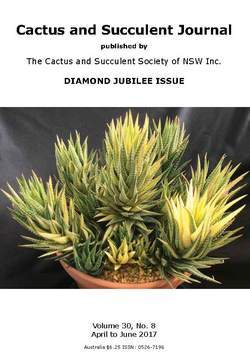 Cover of Cactus and Succulent Journal (NSW) v30.8
