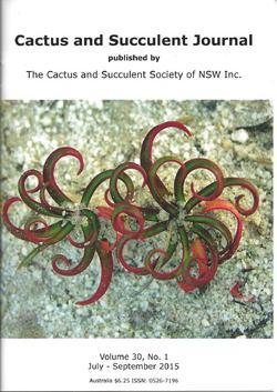 Cover of Cactus and Succulent Journal (NSW) v30.1