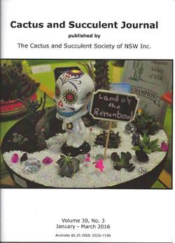 Cover of Cactus and Succulent Journal (NSW) v30.3