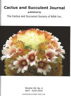 Cover of Cactus and Succulent Journal (NSW) v30.4