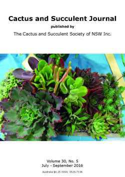 Cover of Cactus and Succulent Journal (NSW) v30.5
