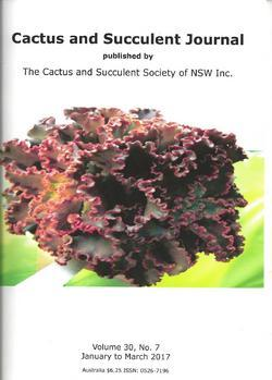 Cover of Cactus and Succulent Journal (NSW) v30.7